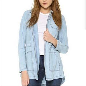 BB Dakota chambray blue trench jacket